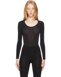 Wolford Buenos Aires String Bodysuit - Black