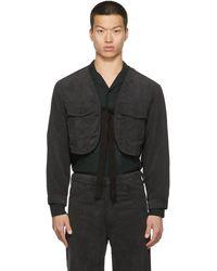 Sasquatchfabrix. Corduroy Bolero Jacket - Black