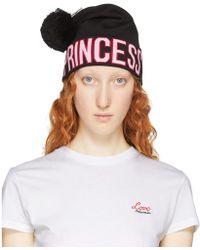 Dolce & Gabbana ブラック ロゴ Princess ビーニー - マルチカラー