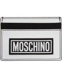 Moschino ホワイト & ブラック ロゴ カード ケース