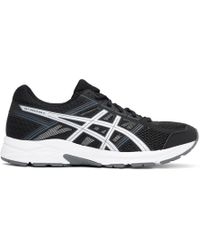 Asics - Black And Silver Gel-contend 4 Sneakers - Lyst