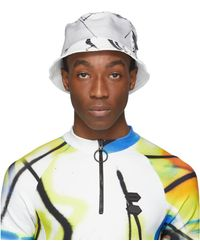 Off-White c/o Virgil Abloh White Futura Abstract Bucket Hat