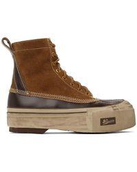 Visvim タン & ブラウン Decoy Duck G.patten-folk ブーツ