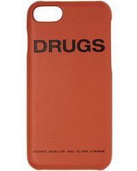 Raf Simons オレンジ Drugs Iphone 7 ケース