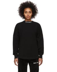 Palm Angels Black Logo Oversized Long Sleeve T-shirt
