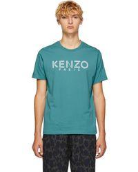 KENZO - Blue Logo T-shirt - Lyst