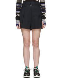 3.1 Phillip Lim - Navy Pinstripe Origami Shorts - Lyst