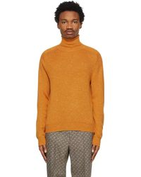 Gucci Orange Wool Silk Turtleneck