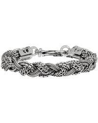 Emanuele Bicocchi Silver Braided Bracelet - Metallic