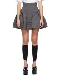 ShuShu/Tong グレー High Waist Ruffle スカート