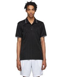 Givenchy - Black Jacquard Sporty Polo - Lyst
