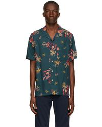 PS by Paul Smith - グリーン Lilies ショート スリーブ シャツ - Lyst