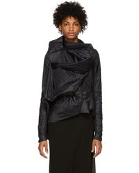 Rick Owens - Ruched Long-sleeve Jacket - Lyst