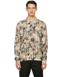 Acne Studios Beige Desert Long Sleeve Polo - Natural