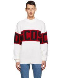 Gcds ホワイト And レッド ロゴ セーター