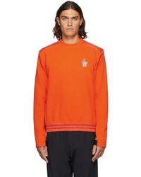 3 MONCLER GRENOBLE オレンジ Maglia スウェットシャツ