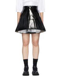 ShuShu/Tong Black Faux-leather A Shape Miniskirt