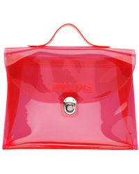 Junya Watanabe - Pink Transparent Jwcdg Top Handle Bag - Lyst
