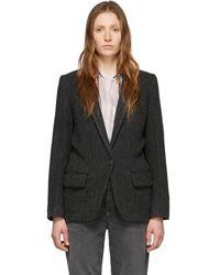Étoile Isabel Marant Black Wool Charly Jacket