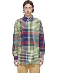Engineered Garments マルチカラー Madras チェック シャツ - ブルー