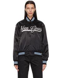 Noon Goons Black Satin Elysian Jacket