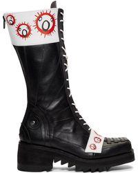 CHARLES JEFFREY LOVERBOY - Black Roker Edition Brachiosaurus Boots - Lyst