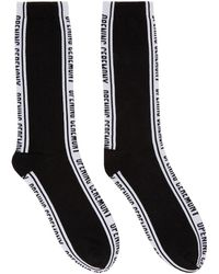 Opening Ceremony - Black Jacquard Logo Socks - Lyst