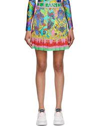 Versace Jeans Couture - マルチカラー ペイズリー Fantasy ミニスカート - Lyst