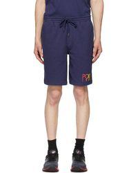Polo Ralph Lauren Navy Fleece Logo Shorts - Blue