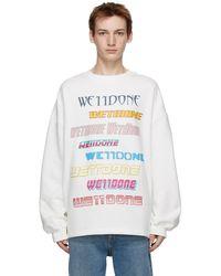 we11done - ホワイト ロゴ スウェットシャツ - Lyst
