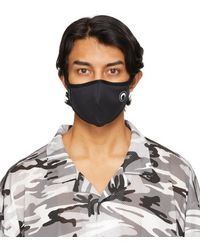 Marine Serre ブラック Daily Wear マスク