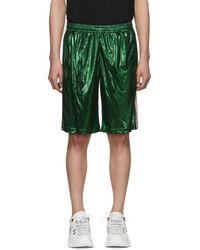 Gucci Green Laminated Shorts