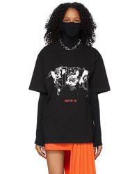 Hood By Air T-shirt 'International' noir à image