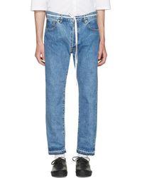 Sasquatchfabrix - Indigo 90's Silhouette Jeans - Lyst