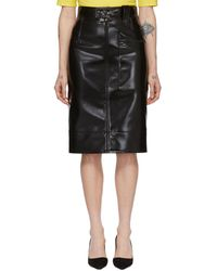 Kwaidan Editions Coating Pencil Skirt - Black