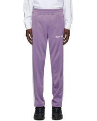 Palm Angels Purple Classic Track Trousers