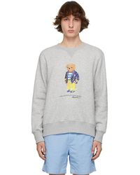 Polo Ralph Lauren - グレー Polo Bear スウェットシャツ - Lyst