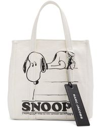 Marc Jacobs - Peanuts Edition オフホワイト The Mini Tag トート - Lyst