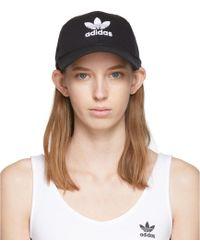 adidas Originals Black Trefoil Logo Cap