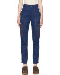 Vejas Blue Moto Jeans