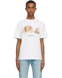 Palm Angels T-shirt blanc Bear