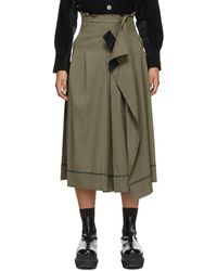 Sacai カーキ スカート - マルチカラー