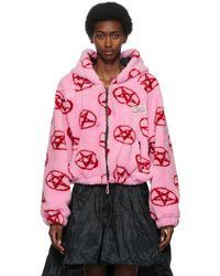 Ashley Williams Pink & Red Pentagram Zip-up Hoodie - Multicolour