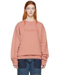 JW Anderson - Pink Jwa Logo Embroidery Sweatshirt - Lyst