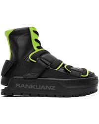 Sankuanz Baskets noires et vertes Chunky Protector