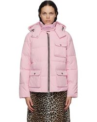 Ganni Pink Heavy Tech Puffer Jacket - Purple
