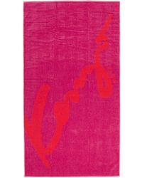 KENZO - Red And Pink Signature Beach Towel - Lyst
