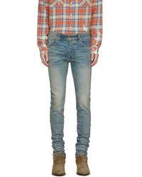 Amiri Indigo Stack Jeans - Blue