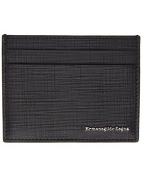 Ermenegildo Zegna ブラック レザー カード ケース