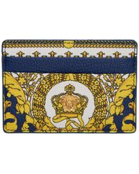 Versace - Barocco Print Leather Card Case - Lyst